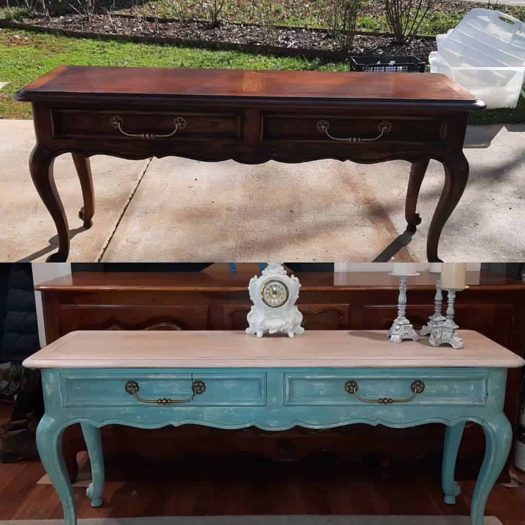 Janet Desk before and after